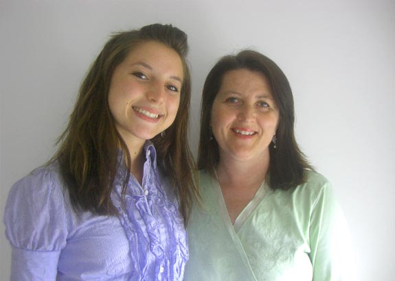 Tory Stramara with her mother